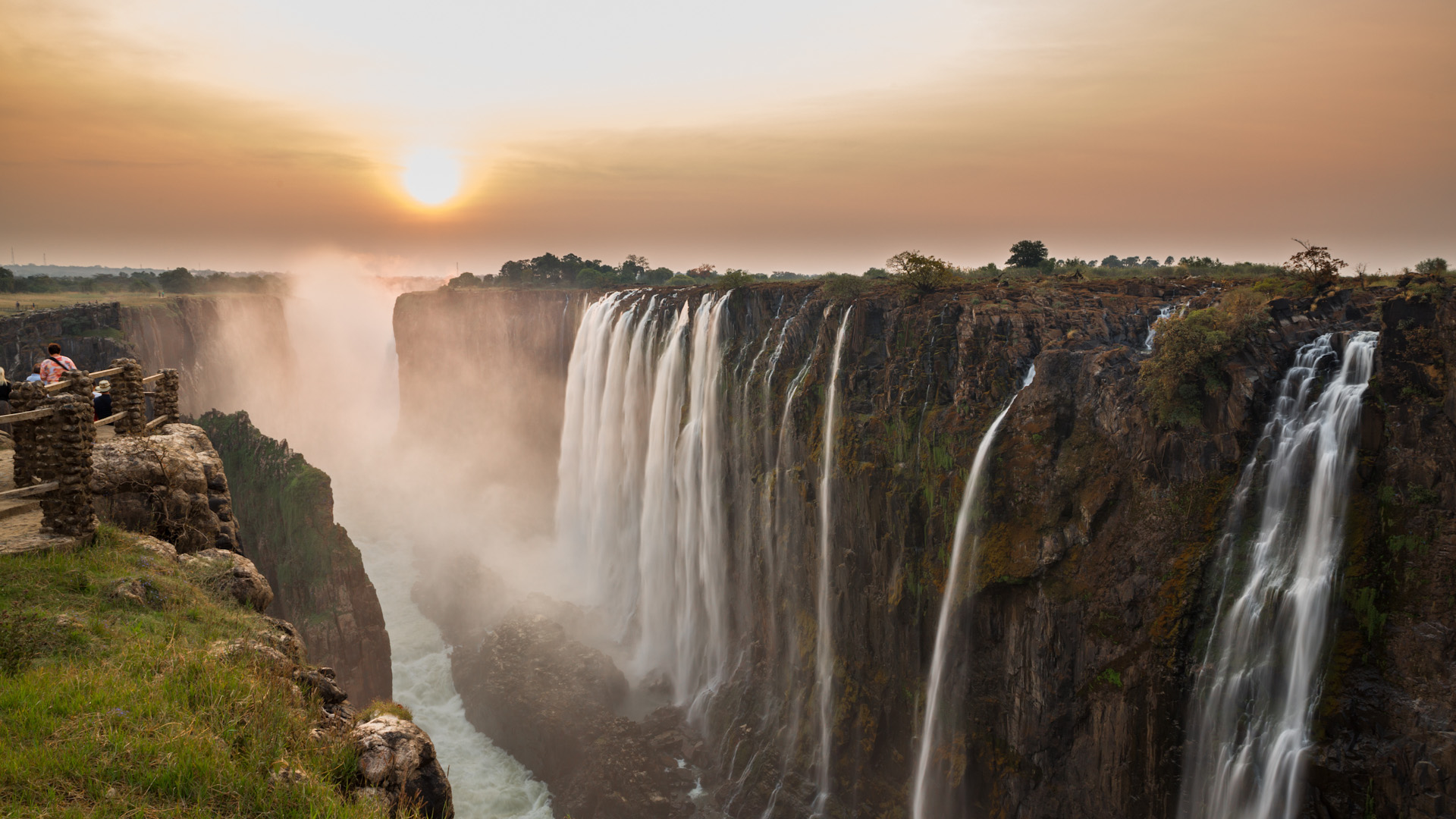 A view from Victoria Falls.