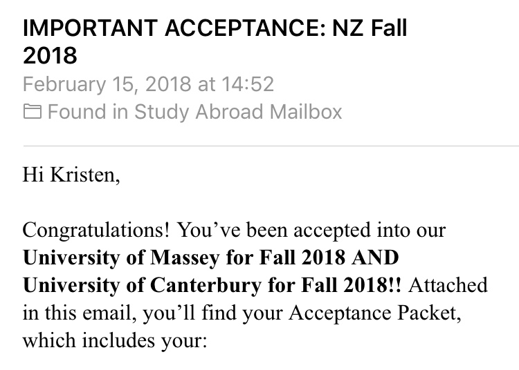 I HAVE BEEN ACCEPTED!!