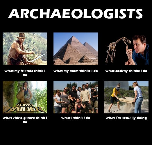 archaeology is all about sifting