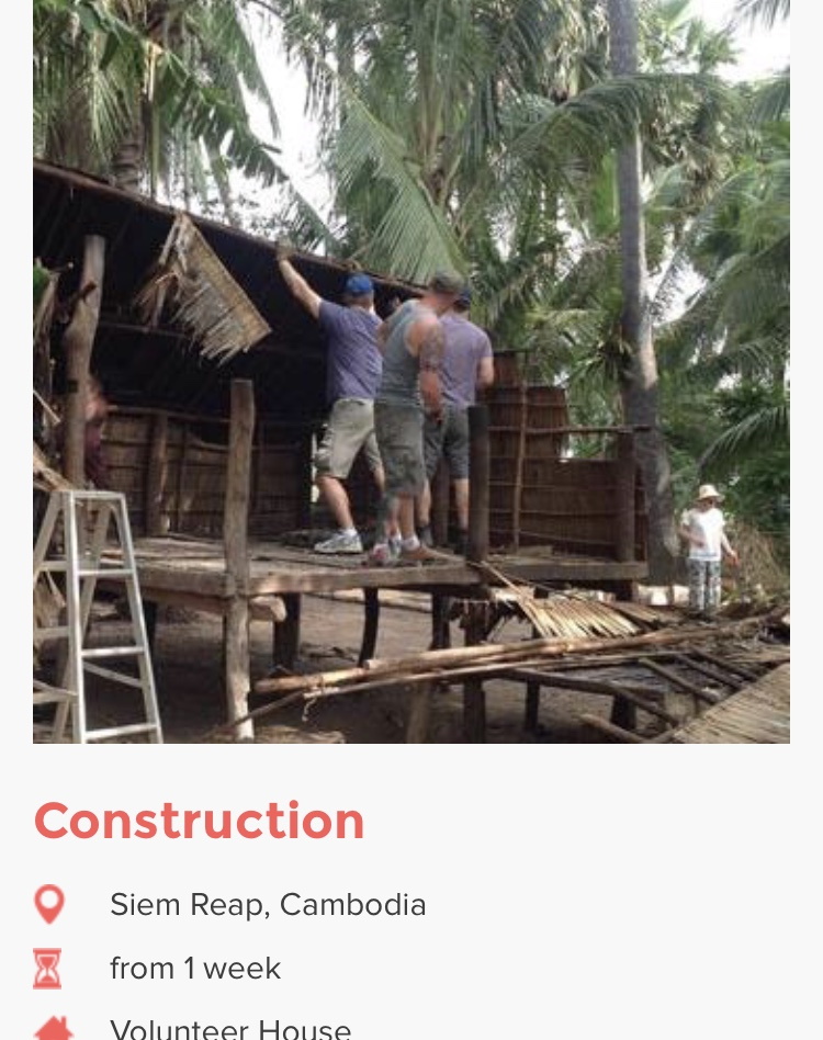 Building homes in Cambodia
